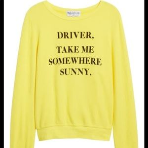 "Wildfox ""take me somewhere sunny"" sweatshirt"